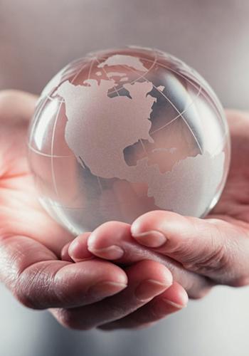 Le globe, le développement commercial et l'international