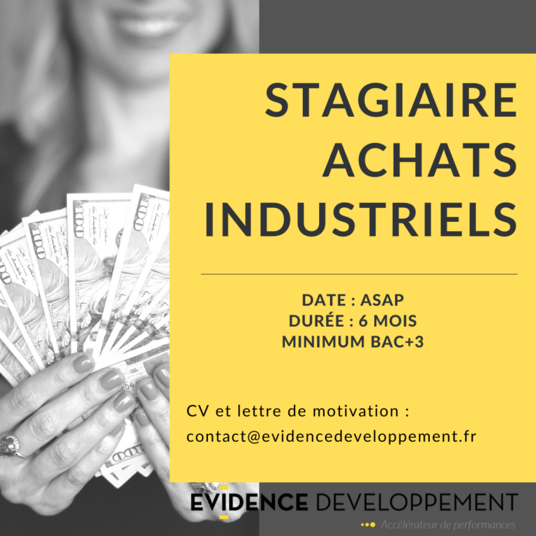 Stage achats industriels